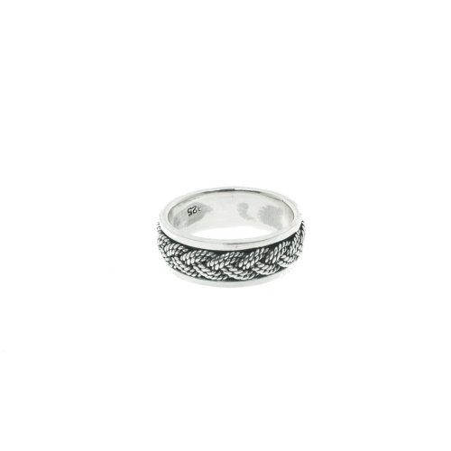 Sterling Silver Mens Rope Ring (R-1403)