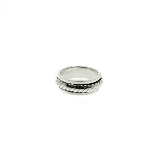 Sterling Silver Mens Spinning intertwined Ring (R-1405)
