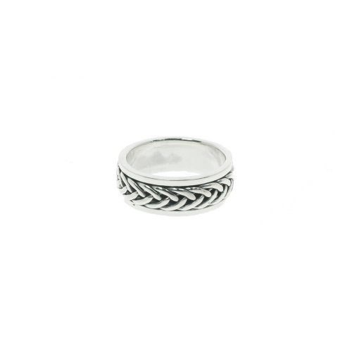 Sterling Silver Mens Braided Ring (R-1404)
