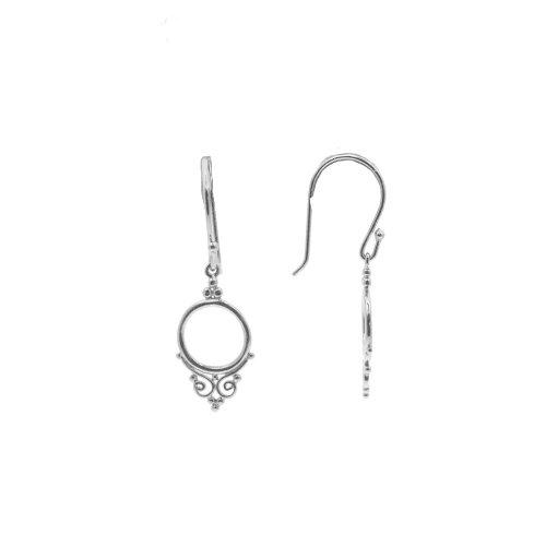 Sterling Silver CZ earring with Elegant Design (ER-1267)