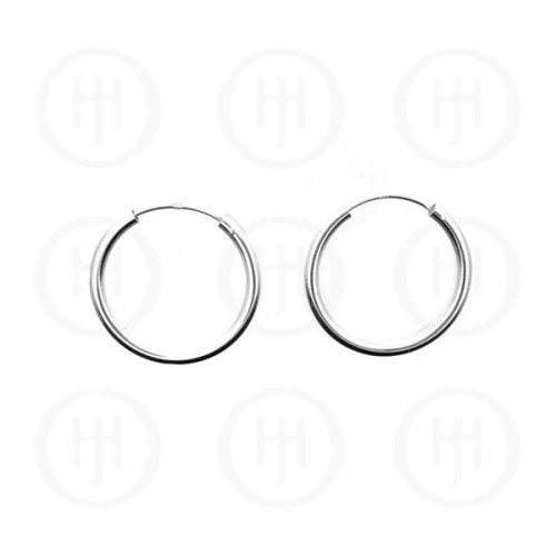 Silver Plain Hoop 23mm x 2.25mm (HP-225-23)