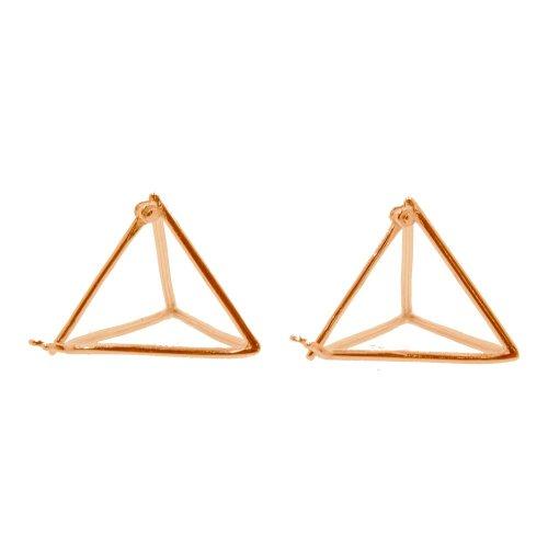 Sterling silver Triangle Prisim Earrings (ST-1307)