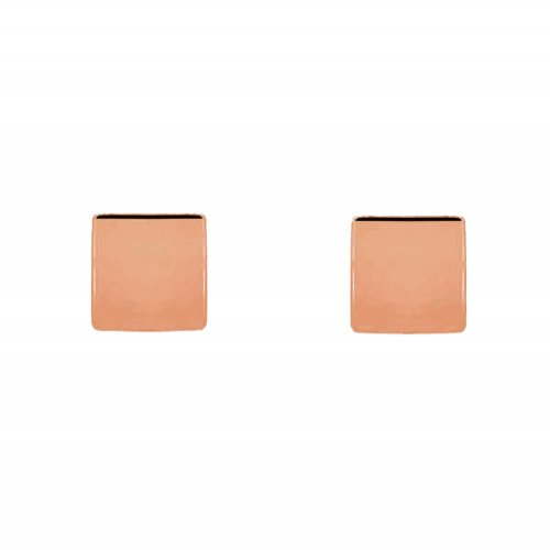 Sterling Silver Plain Square Studs (ST-1311)