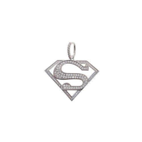 Large CZ Superman Logo (P-1406)