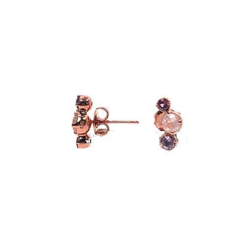 Rose Gold Rose Quartz Earrings (ST-1315-RQ)