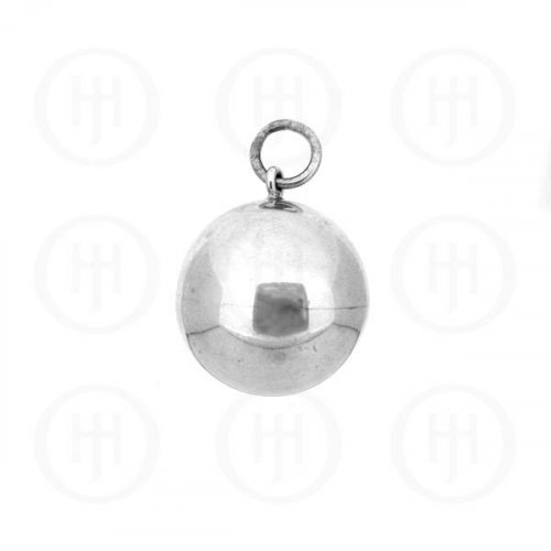 Silver Round 16mm CHIME Ball Pendant(P-1090-16)