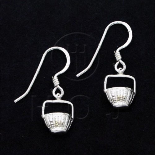 Silver Plain Dangle Earrings (ED4687P)