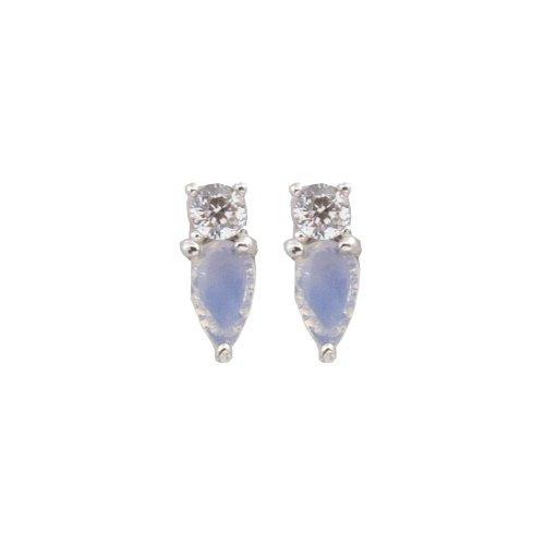 Rose Gold and Rose Quartz Tear Drop Earrings (ER-1283)