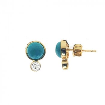 Double Circle Halo Studs (ST-1309-G)