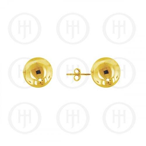 10K Gold Earrings Ball Stud 8mm (G-BE-8-10K)