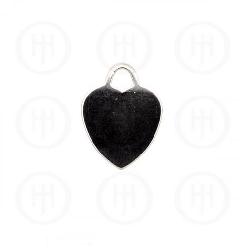 Silver Heart Dog-Tag Pendant (DT-H-100)