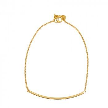 Sterling Silver Curved Bar Chain Bracelet (BR-1192)
