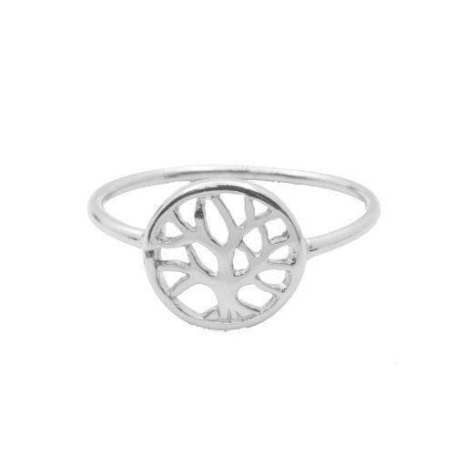 Plain Sterling Silver Tree of Life Ring (R-1206)