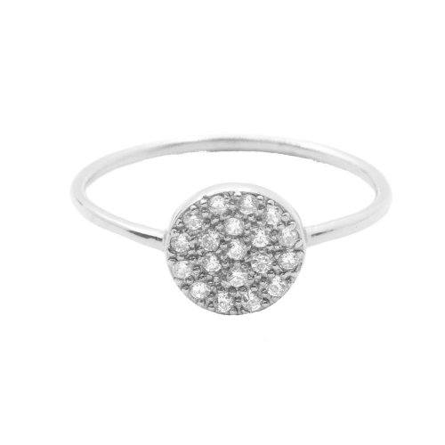 Silver Assorted CZ Round Disc Ring (R-1329)