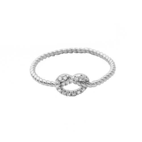 CZ Knotted Ring (R-1423)