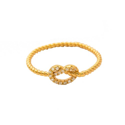 CZ Knotted Ring (R-1423-G)