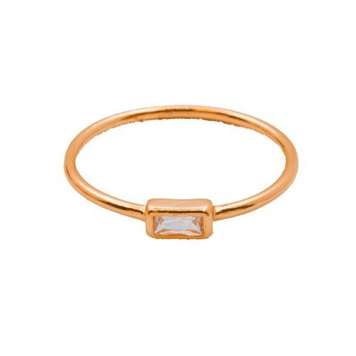 Rectange CZ Halo Ring (R-1425-R)