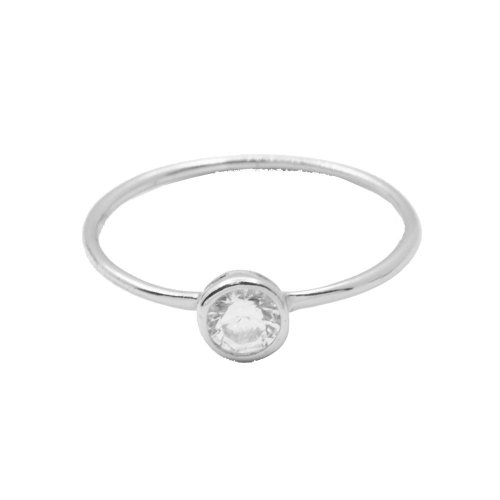 Circle CZ Halo Ring (R-1426)