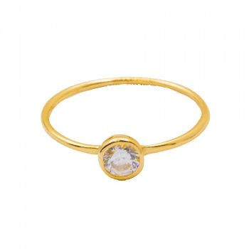 Circle CZ Halo Ring (R-1426-G)