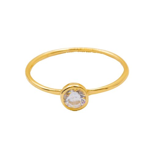 Circle CZ Halo Ring (R-1426-G)
