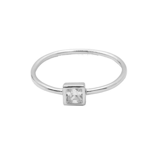 Square CZ Halo Ring (R-1427)
