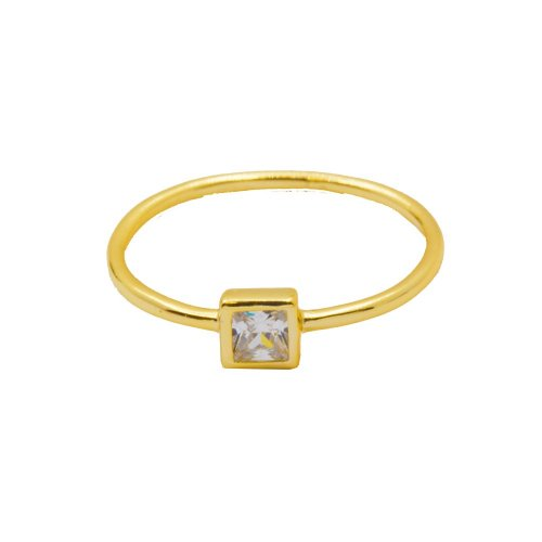 Square CZ Halo Ring (R-1427-G)
