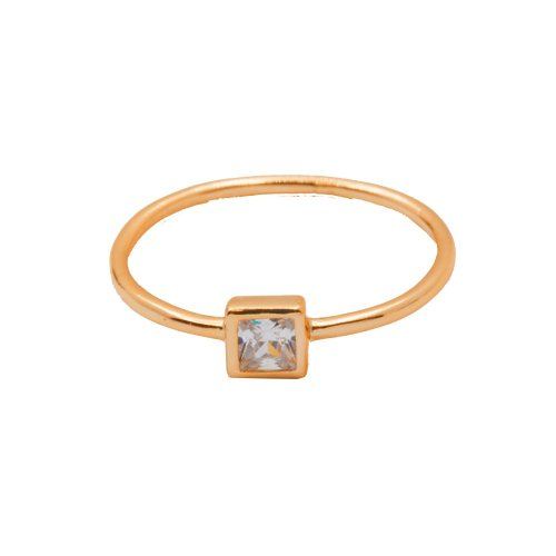 Square CZ Halo Ring (R-1427-R)