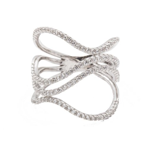 Abstract Wavy CZ Ring (R-1396)