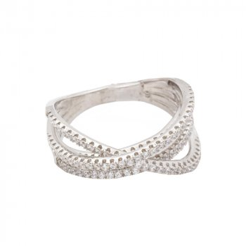 Sterling Silver CZ multi-layer ring (R-1520)