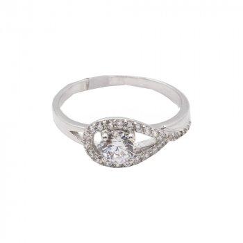 CZ Teardrop Ring (R-1417)