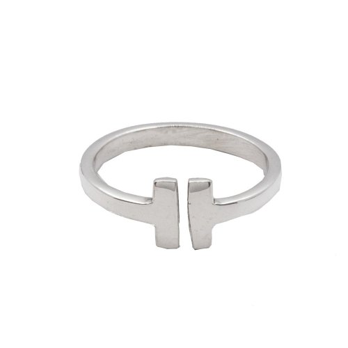 Silver Plain Tiffany Inspired Tiffany T Ring (R-1262)