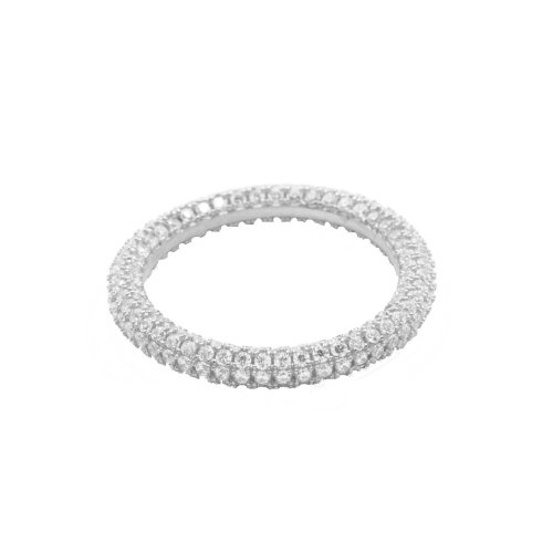 Round CZ Ring Covered in CZ (R-1415)