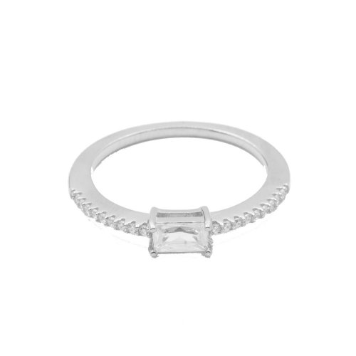 Silver Baugette Ring (R-1341)