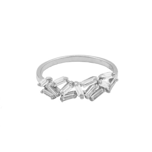 Sterling Silver Baguette CZ Ring (R-1500)