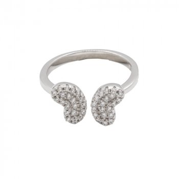 Sterling Silver Butterfly CZ Ring (R-1505)