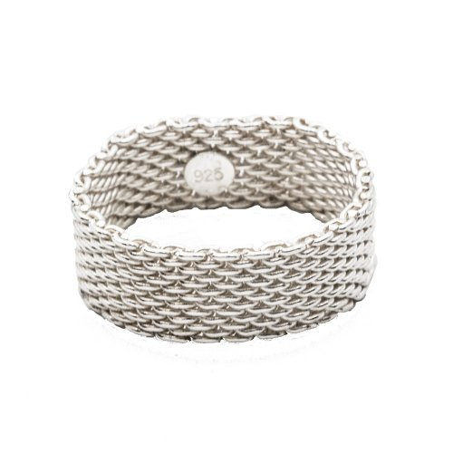 Silver Plain Assorted Tiffany Inspired Mesh Ring (R-1011)