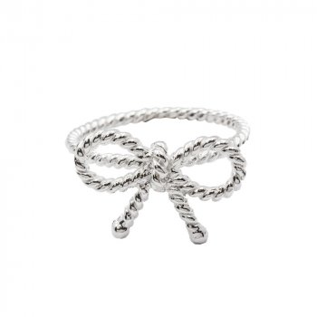 Sterling Silver Bow Ring (R-1166)