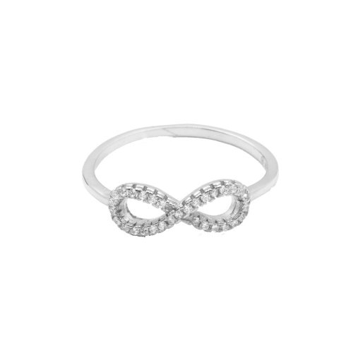 Sterling Silver CZ Infinity Ring (R-1177)