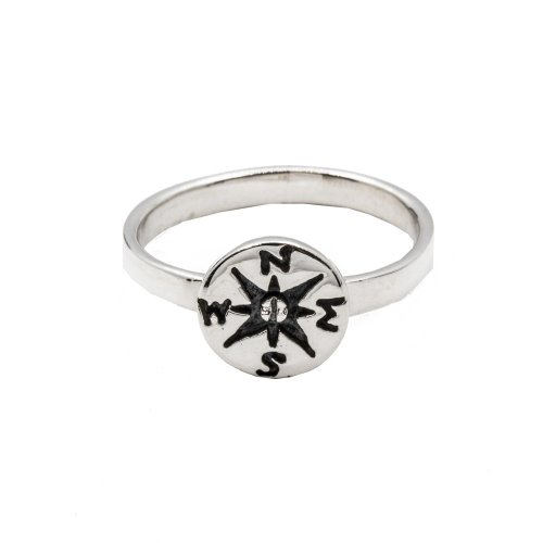 Sterling Silver Plain Compass Ring (R-1373)