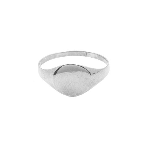 Sterling Silver Plain Oval Signet Ring (R-1375)