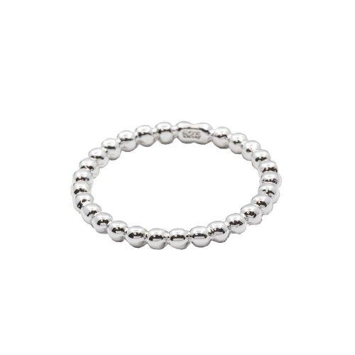 Plain Silver Ball Circle Ring (R-1532)