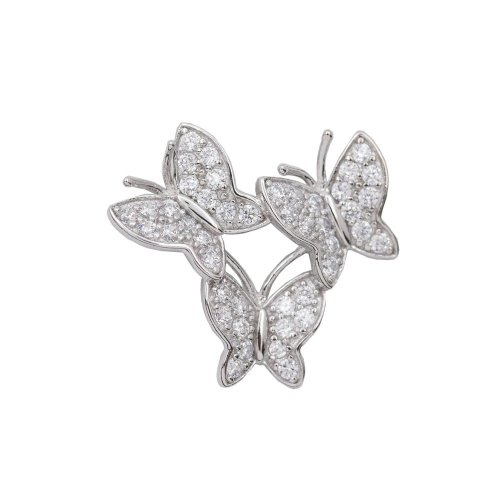 Three CZ Butterflies (P-1402)