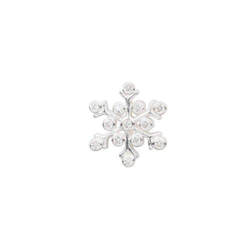 Silver CZ Assorted Snowflake Pendant (P-1127)