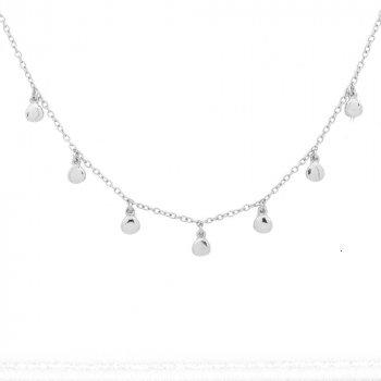Sterling Silver Dewdrop Choker Necklace (N-1244)