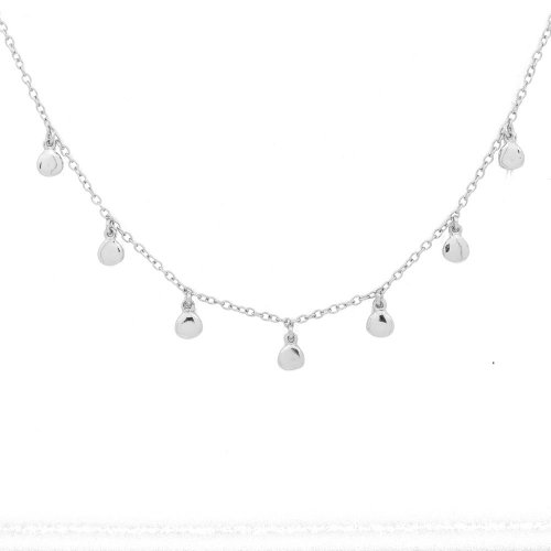 Sterling Silver Dewdrop Choker Necklace (N-1244)