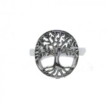 Plain Sterling Silver Tree of Life Ring (R-1198)