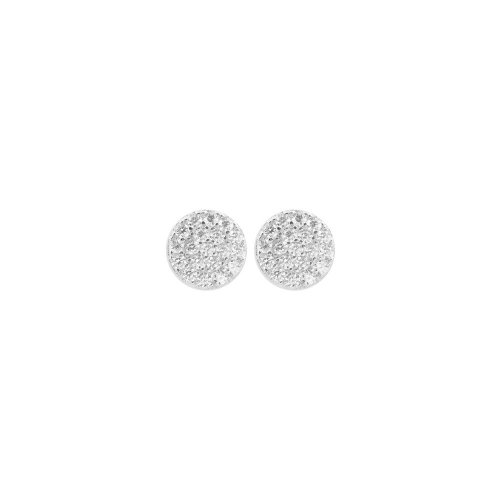 Silver Rhodium Plated CZ Round Stud Earring (ST-1097)