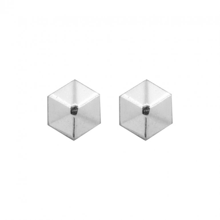 bfd84b054 Sterling Silver Hexagonal Pyramid Stud Earrings (ST-1250) - House of ...