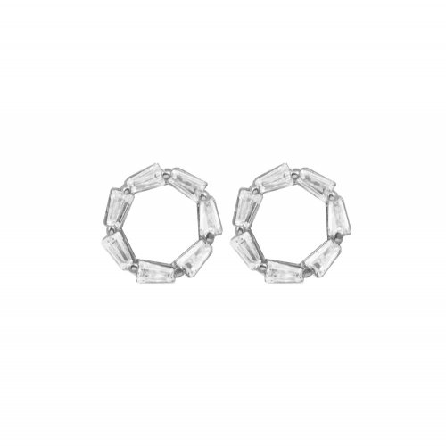 Sterling Silver CZ Mini Circle of Life Studs (ST-1269)