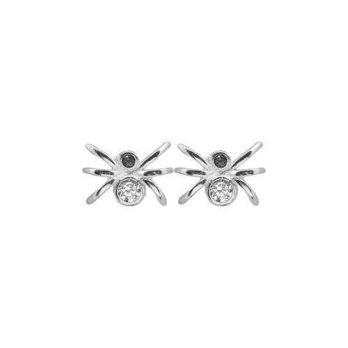 Sterling Silver Assorted CZ Spider Stud Earring (ST-1073)